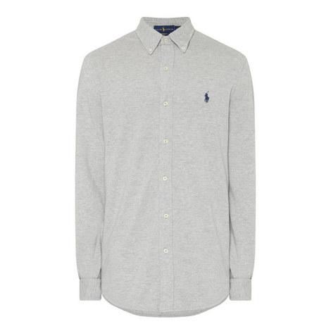 Long Sleeve Piqué Shirt, ${color}