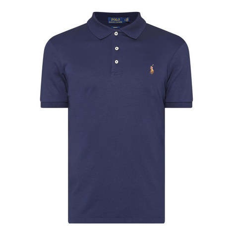 Pima Cotton Slim Fit Polo Shirt, ${color}
