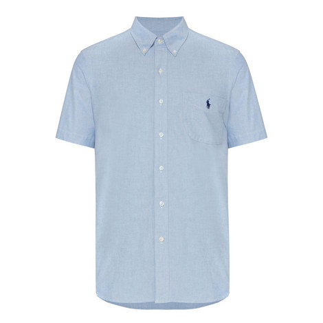 Custom Fit Short Sleeve Oxford Shirt, ${color}