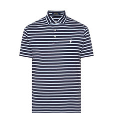 Stripe Patterned Polo Shirt
