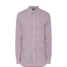 Stretch Check Pattern Shirt