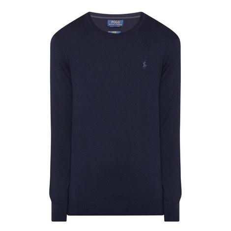Crew Neck Merino Wool Sweater, ${color}