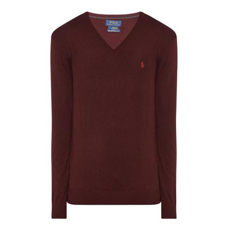 Merino Wool V-Neck Sweater, ${color}