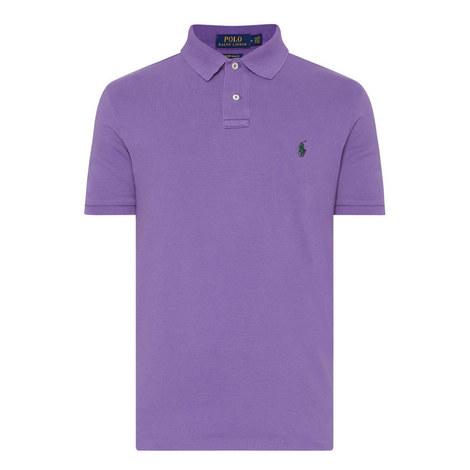 Slim Fit Cotton Piqué Polo Shirt, ${color}