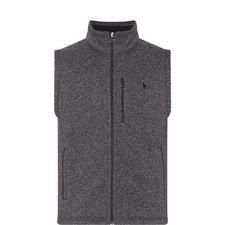 Flecked Fleece Gilet