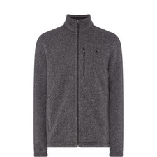 Flecked Zip-Through Fleece