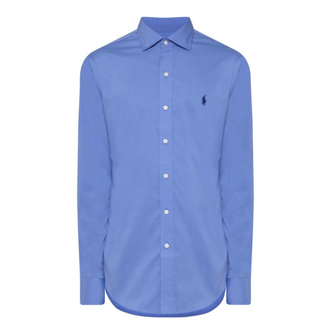 Slim Fit Poplin Shirt, ${color}