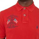 Embroidered Flag Polo Shirt, ${color}