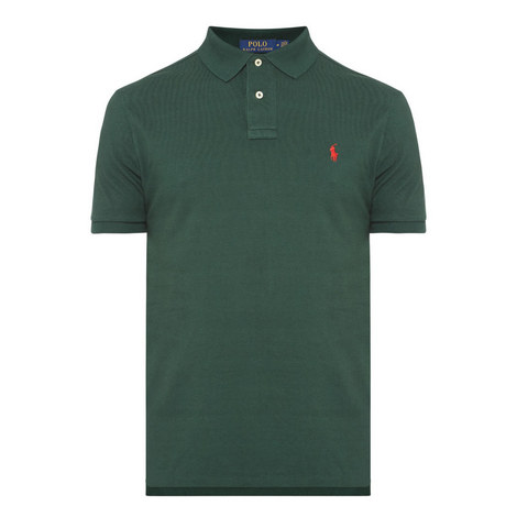 Custom Slim Fit Short Sleeve Polo Shirt, ${color}