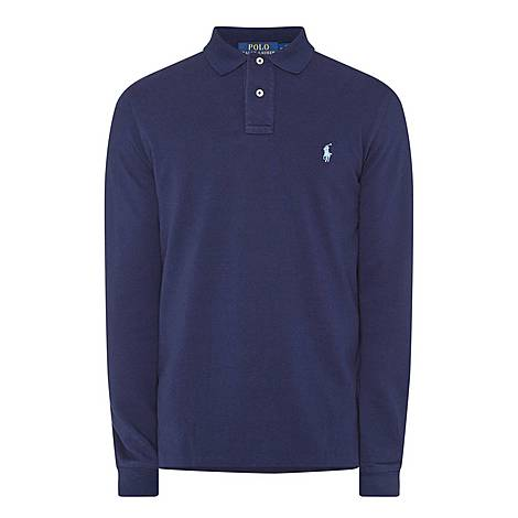 Custom Fit Long Sleeve Polo Shirt, ${color}