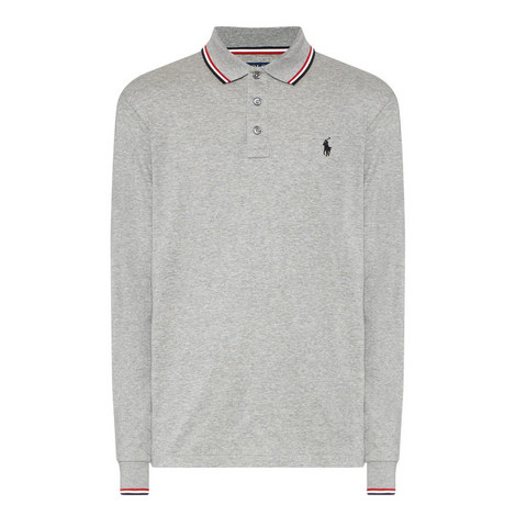 Long Sleeve Tipped Polo Shirt, ${color}