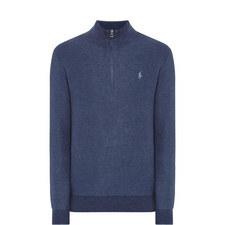 Half-Zip Textured Sweater