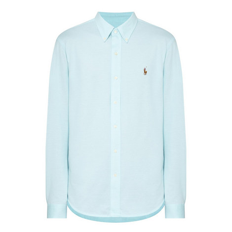 Long-Sleeved Oxford Shirt, ${color}