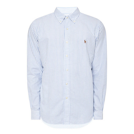 Striped Oxford Shirt, ${color}
