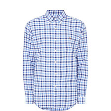 Large Check Print Shirt