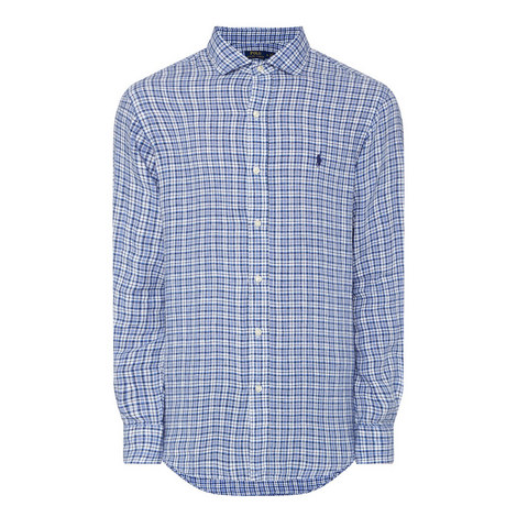 Linen Check Shirt, ${color}
