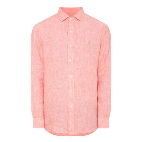 Slim Fit Linen Shirt, ${color}