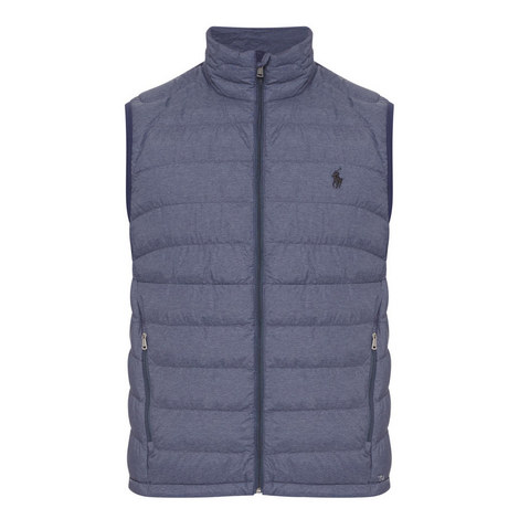 Heathered Down Gilet, ${color}