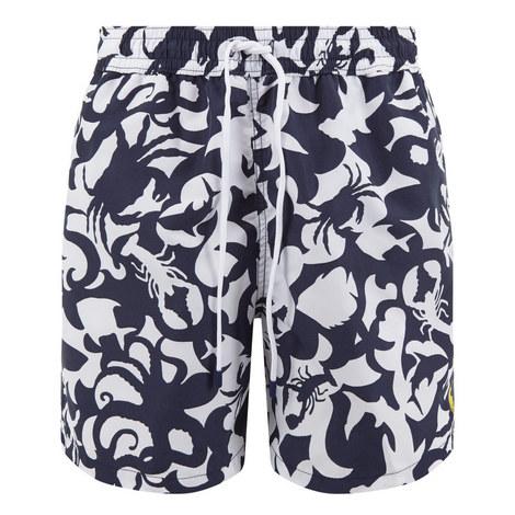 Traveller Underwater Print Swim Shorts, ${color}