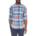 Check Linen Shirt , ${color}