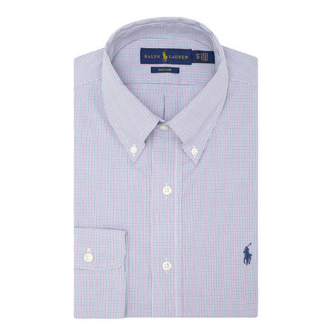 Fine Check Poplin Shirt, ${color}