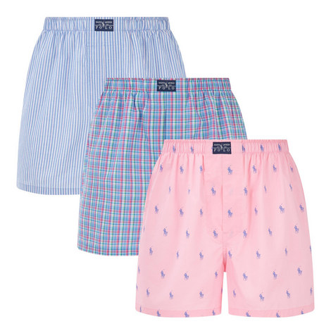 Three-Pack Cotton Boxer Trunks, ${color}