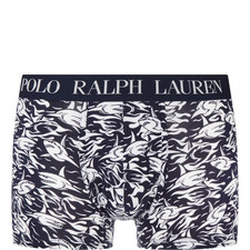 Shark Print Cotton Boxer Trunks