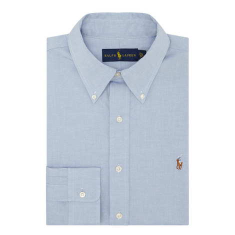 Custom Fit Cotton Oxford Shirt, ${color}