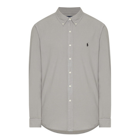 Long Sleeved Oxford Shirt, ${color}