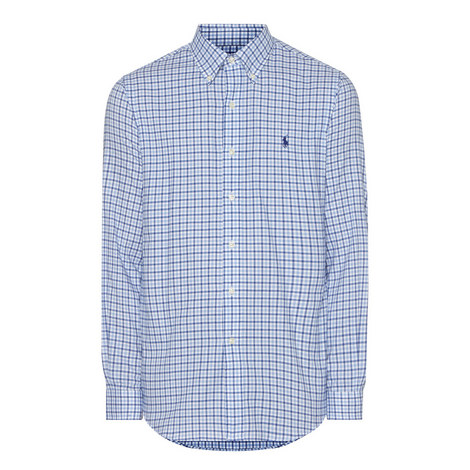 Check Button-Up Shirt, ${color}