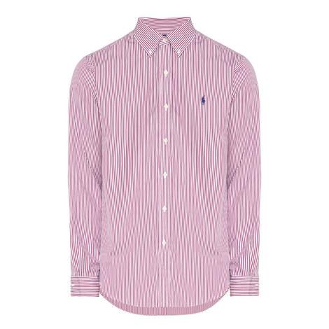 Stripe Custom Fit Cotton Poplin Shirt, ${color}