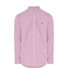 Stripe Custom Fit Cotton Poplin Shirt