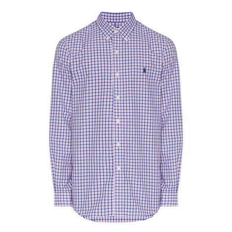 Check Custom Fit Cotton Oxford Shirt, ${color}