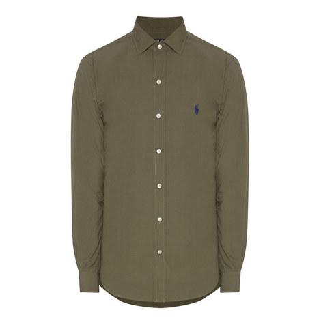 Slim Fit Cotton Poplin Shirt, ${color}