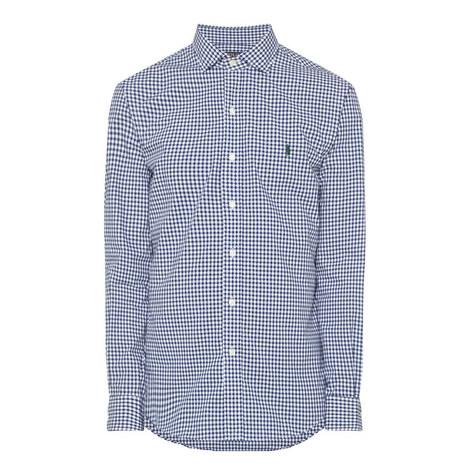 Gingham Slim Fit Cotton Oxford Shirt, ${color}