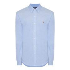 Long Sleeved Knit Oxford Shirt