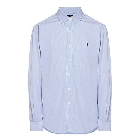 Stripe Custom Fit Cotton Poplin Shirt, ${color}