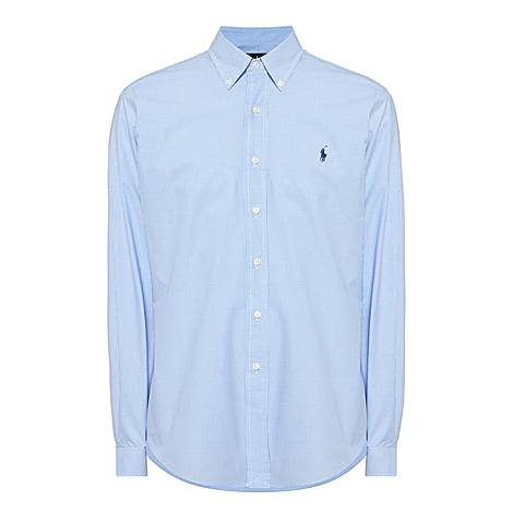 Check Poplin Custom Fit Shirt, ${color}
