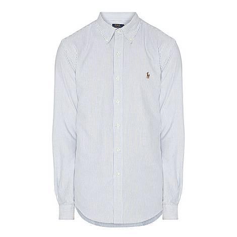 Stripe Slim Fit Cotton Oxford Shirt, ${color}
