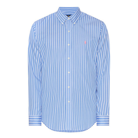 Custom Fit Stripe Shirt, ${color}