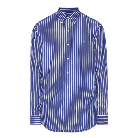 Custom Fit Wide Stripe Shirt, ${color}