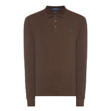Long Sleeved Stretch Polo Shirt