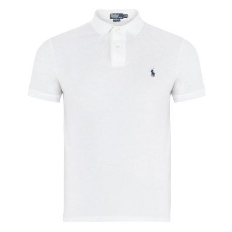 Slim Fit Cotton Pique Polo Shirt, ${color}