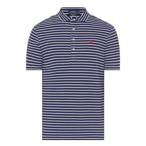 Stripe Patterned Polo Shirt, ${color}