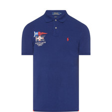 Custom Fit Flag Polo Shirt