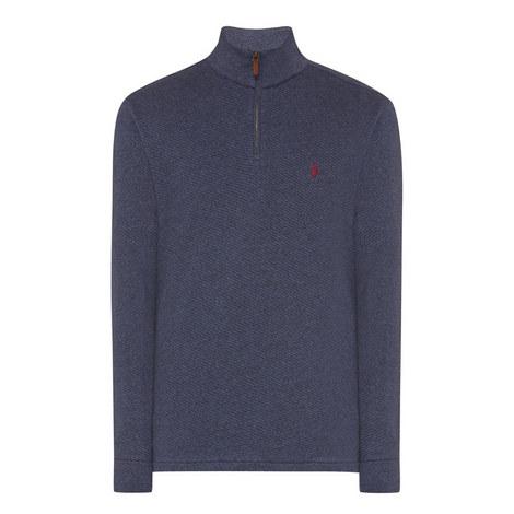 Melange Half-Zip Sweater, ${color}