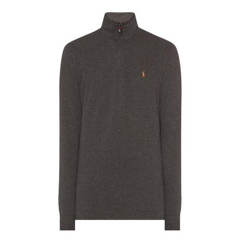Long Sleeve Half-Zip Sweater, ${color}