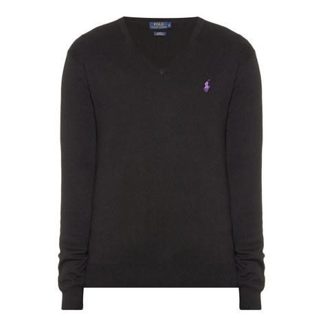 Pima Cotton V-Neck Sweater, ${color}