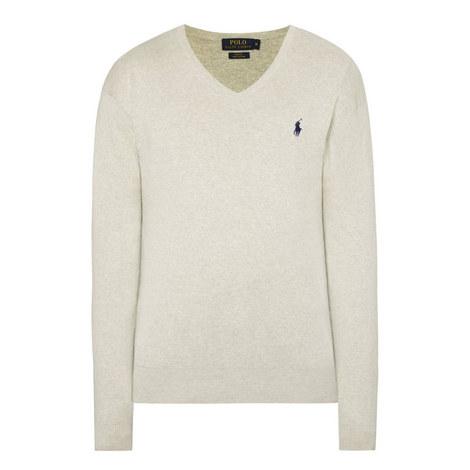 Pima Cotton Slim V-Neck Sweater, ${color}