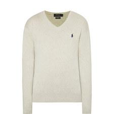 Pima Cotton Slim V-Neck Sweater